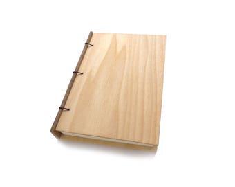 Poplar Wooden Notebook Wooden Wedding Guestbook Wood Journal Engraved Notebook Wooden Sketchbook Custom Journal Travel Notebook