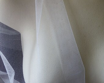 White Silk Tulle from England FAT Quarter for Bridal, Garters, Embroidery, Costumes