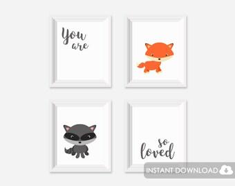 Nursery Print You Are So Loved, Printable Nursery You Are So Loved, You Are So Loved Print, Grey Nursery Quote Printable, Quote Print Grey