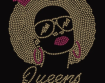 Queens are born in .......  Gold and Pink Rhinestone T-Shirts or Sweatshirts