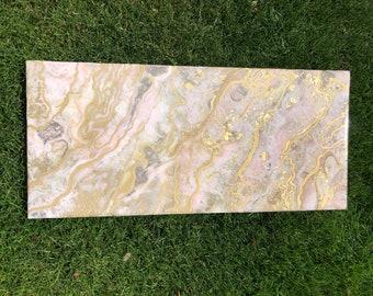 Rose Gold River resin art