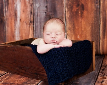 Baby Blanket Navy Blue Baby Blanket Navy Baby Blanket Newborn Baby Blanket Newborn Photo Prop Newborn Photography Baby Boy Blanket Baby Girl