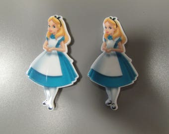 Alice in Wonderland Planar Resin Flatback for Jewellery crafts