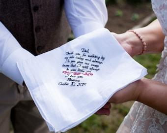 Gift for Dad Wedding Gift for Father of the Bride Wedding Handkerchiefs Wedding Handkerchief Gift from Daughter Wedding Gift Hanky