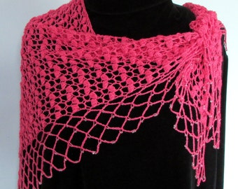 Pattern only - Catkins Shawl pattern crochet pattern shawlette triangle scarf