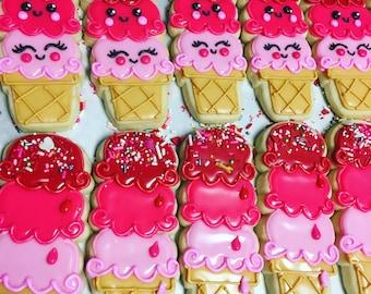 Valentines triple scoop icecream