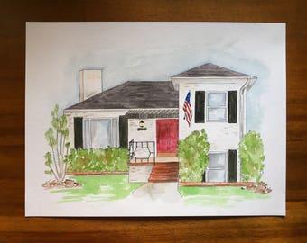 Custom House Watercolor
