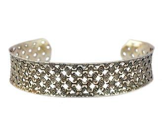 Gypsy Silver Bracelet, Silver Boho Bracelet, Tribal Cuff Bracelet, Gypsy Bracelet, Bohemian Bracelet, Tribal Bracelet, Ethnic Bracelet