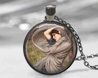 John William Waterhouse • Boreas • Pre-Raphaelites • Famous Painting • Waterhouse Jewelry