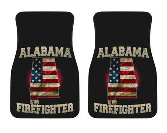 Alabama/Firefighter/American Flag/Car/Truck/SUV/Auto/RV/Floors Mats/Gifts/State Flag/Art/Home