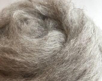 Grey Icelandic Sheep roving, spinning fiber, felting fiber, fiber