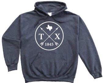 Homeland Tees Texas Arrow Pullover Hoodie Sweatshirt