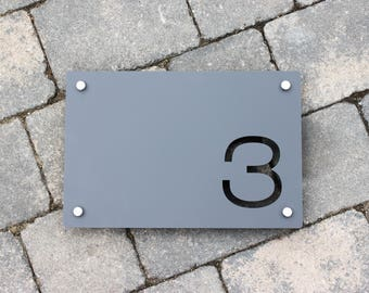 House Sign Door Number Large Rectangle  300mm x 200mm x 5mm Original and Unique Laser Cut Bespoke Laser Cut Design