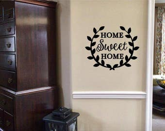Home Sweet Home Wall Decor - Home Wall Decor - Removable Home Sweet Home Wall Decor - Removable Vinyl Decor - Wall Decal - Home Decor