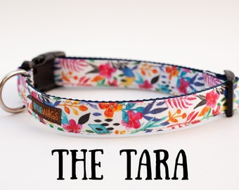 Handmade Floral Dog Collar, dog collar for girls, dog collar, Flowers
