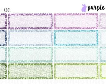 Confetti Quarter Boxes // Planner Stickers!