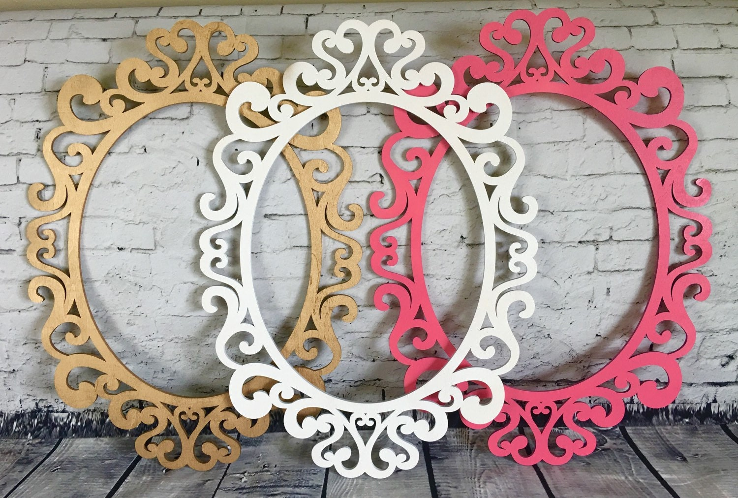 Large oval ornate open frames nursery decor wall gallery wall zoom jeuxipadfo Image collections