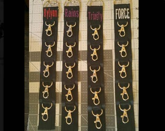 Custom GLITTER Imprinted Back Pack Cheer Bow Strap