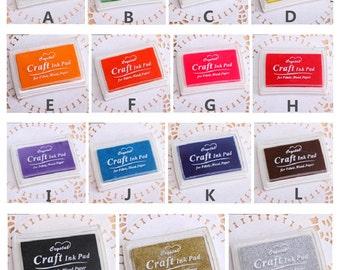 15pcs/Set Stamp Ink Pad - Multicolor Print Ink Pad - DIY Oil Based Print Craft Pad For Rubber Stamps Paper Wood