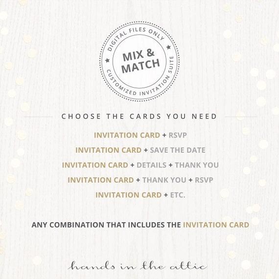 Coral mint wedding invitation kits suites sets salmon blush like this item stopboris Image collections