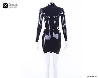 T Latex Mini Dress