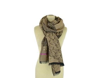 Anni beige - Woman's scarf - La Tribu des Oiseaux