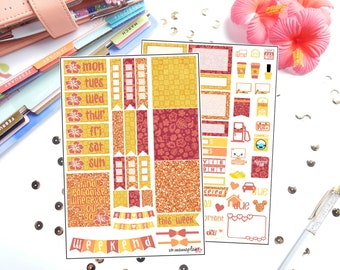 Decorate Like Me #14 Warm Tropics for Erin Condren Life Planner/Planners