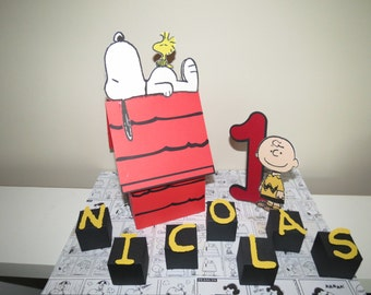 Peanuts Snoopy Inspired 3D Centerpiece (1)