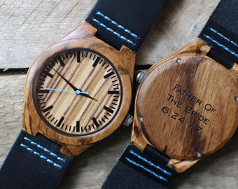 Mens Wood Watch, Mens Watch, Groomsmen Watches, Wood Watch For Men, Wooden Watch, Gifts for Dad, 5th anniversary gift, Groomsmen Gifts