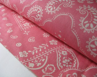 PINK HANKERCHIEF BROADCLOTH fabric, measures 62 inches by 10 yards