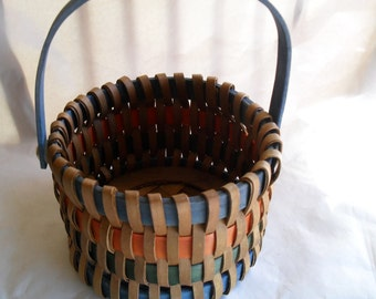 Basket Woven Wooden Wood Handle Perfect for Easter