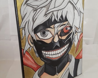 Ken Kaneki from Tokyo Ghoul acrylic on canvas