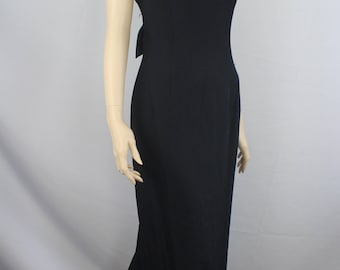80s prom dress large, 80s prom dress, vintage 1980s prom dress large , Hollywood Nites dress, black large prom dress, 1980s  L large 12