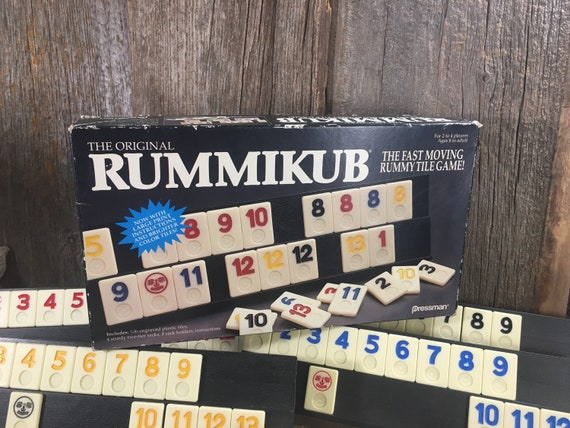 Vintage Rummikub from 1990, The original Rummikub for 2 to 4 players, vintage game, fast moving rummy tile game, vintage game fun, pressman