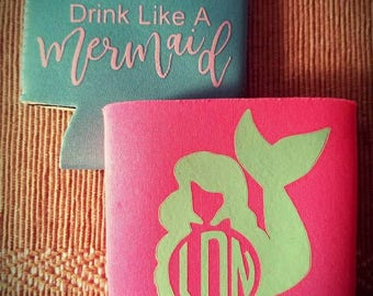 Mermaid Can Coozies