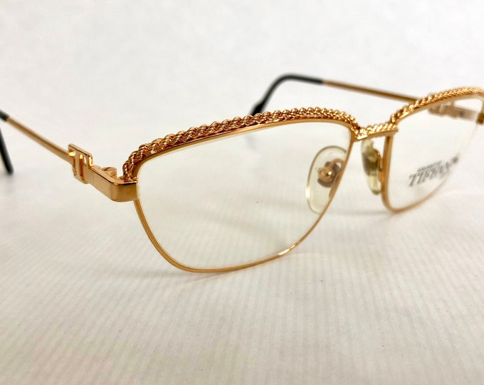 Tiffany Lunettes T3/02 Vintage Glasses - 23Kt Gold Plated - New Old Stock