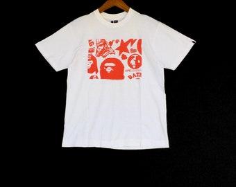Rare!! Bathing Ape General T-Shirt  Nice Design Medium Size