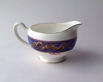 Antique Grafton China Creamer / Milk Jug Dragon Border