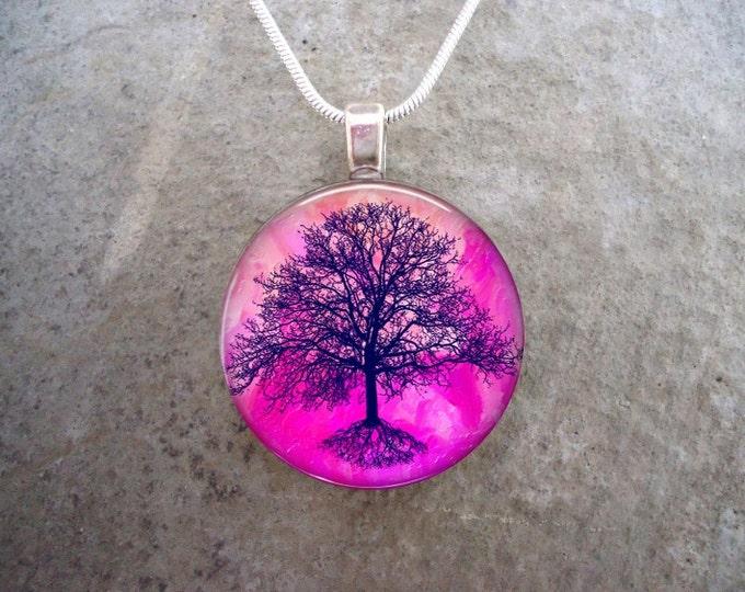 Tree Jewelry - Glass Pendant Necklace - Tree of Life Jewellery - Tree 16