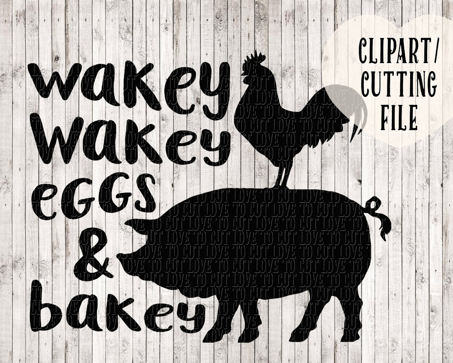 Wakey Eggs And Bakey Svg File Design For Tea