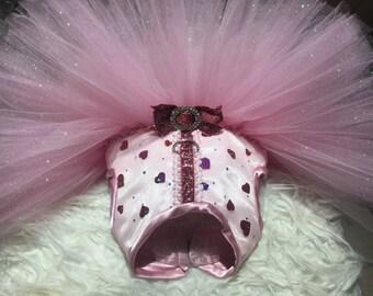 Valentine Dog Dress-Valentine Dog Tutu-Valentine Dog Clothes-Pink Dog Dress-Heart Dog Dress-Bespoke Dog Dress-Bespoke Dog Tutu