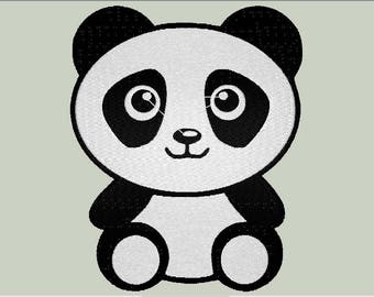 Baby Panda Cute Animal Babies File Embroidery Designs Baby Shower Birthday Files exp dst vip jef hus xxx pec pes Custom Personalized Gifts