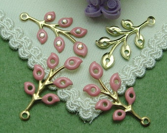 6 pcs   Handmade  Gold Plated  Branch of the  Tree Charms,  NICKEL FREE(T83502)