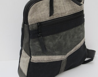 WAXED CANVAS BACKPACK  Rugged Beauty Nothing Scrappy About This Bag by Elizabeth Z Mow