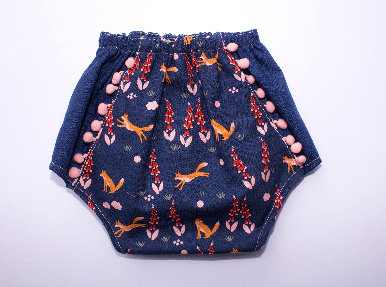 Boho Baby Girl Pom Pom Bloomers Toddler Girl Pom Pom Bloomer Shorts