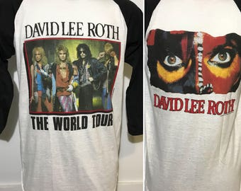 Vintage 1986 David Lee Roth World Tour Tee L