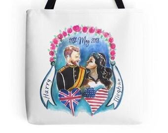 Royal wedding tote bag Harry and Meghan royal wedding commemorative bag royal wedding party When Harry Met Meghan Royal Engagement wedding