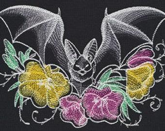 Nocturnus Bat Embroidered Flour Sack Hand/Dish Towel