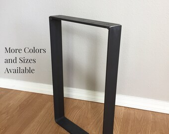 Steel Table Legs, Square Metal Design in Black, Steel or Brass and Many Sizes
