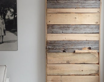 Sliding barnwood door | Farmhouse door, Wood door Montreal, Rustic door | Rustic Decor